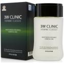 Мужской увлажняющий тоник 3W Clinic Classic Moisturizing Freshness Essential Skin