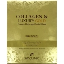 Гидрогелевая маска для лица с золотом и коллагеном 3W Clinic Collagen and Luxury Gold Energy Hydrogel Facial Mask