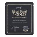 Гидрогелевая маска с черным жемчугом и золотом Petitfee Black Pearl And Gold Mask Pack