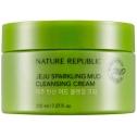 Очищающий крем с минеральной водой Nature Republic Jeju Sparkling Mud Cleansing Cream