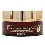 Антивозрастной крем с женьшенем Deoproce Repair Machine Ginseng Cream