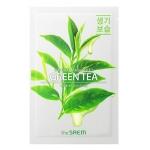 Маска для лица с экстрактом зеленого чая тканевая The Saem Natural Green Tea Mask Sheet