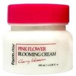 Цветочный крем для лица Farmstay Pink Flower Blooming Cream Cherry Blossom