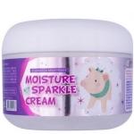 Крем с алмазной пудрой Elizavecca Milky Piggy Moisture Sparkle Cream