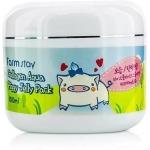 Антивозрастная ночная маска для лица FarmStay Collagen Aqua Piggy Jelly Pack