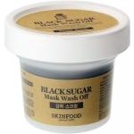 Маска-скраб с тростниковым сахаром Skinfood Black Sugar Mask Wash Off