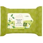 Косметические салфетки с чаем The Saem Healing Tea Garden Green Tea Cleansing Tissue-20