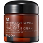 Крем с экстрактом улиточной слизи  Mizon All in one snail repair cream