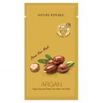 Питающая маска-шапка Nature Republic Argan Essential Deep Care Steam Hair Mask