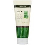 Мягкая очищающая пенка для умывания с экстрактом алоэ FarmStay Aloe Pure Cleansing Foam