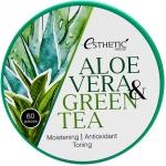 Гидрогелевые патчи для глаз с алоэ вера и зеленым чаем Esthetic House Aloe Vera and Green Tea Hydrogel Eye Patch