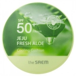 Кушон охлаждающий солнцезащитный The Saem Jeju Fresh Aloe Cooling Cushion Natural Baige SPF 50+ PA+++