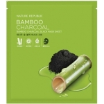 Черная маска для лица Nature Republic Bamboo Charcoal Black Mask Sheet