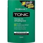 Тонизирующий шампунь 2 в 1 для мужчин Kumano Cosmetics Pharmaact Tonic Rinse in Shampoo EX Cool Menthol