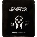 Глубокоочищающая 3D- маска с углём, глиной и вулканическим пеплом JJ Young Pore Charcoal Mud Sheet Mask