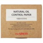Матирующие салфетки The Saem Natural Oil-Control Paper