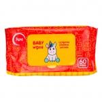 Очищающие влажные салфетки для детей без спирта Pure Baby Wipes