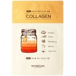 Тканевая маска для лица Skinfood Boosting Juice 2-Step Mask Sheet Collagen