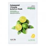 Тканевая маска с экстрактом каламанси Eyenlip Calamansi Vitamin Solution Mask