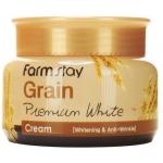 Осветляющий крем с ниацинамидом и экстрактом овса FarmStay Grain Premium White Cream