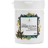 Альгинатная маска увлажняющая с экстрактом спирулины Anskin Spirulina Modeling Mask / container
