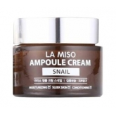 Крем-сыворотка с улиточным муцином La Miso Ampoule Cream Snail