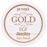 Локальные патчи для век Petitfee Hydro Gel Eye Patch Premium Gold & EGF