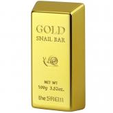 Мыло для умывания с золотом The Saem Gold Snail Bar