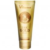 Пенка для умывания с муцином улитки и золотом Elizavecca 24k Gold Snail Cleansing Foam
