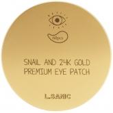 Гидрогелевые патчи для глаз с муцином и золотом L'Sanic Snail and 24K Gold Premium Eye Patch