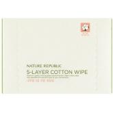 Пятислойные салфетки для очищения Nature Republic Beauty Tool Natural 5-layer Cotton Wipe