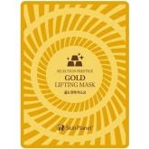 Тканевая лифтинг-маска с золотом, витаминами и гиалуроновой кислотой Mijin Skin Planet Selection Prestige Gold Lifting Mask