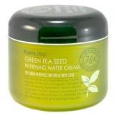 Осветляющий увлажняющий крем для лица с экстрактом зеленого чая FarmStay Green Tea Seed Whitening Water Cream