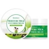 Увлажняющий крем с экстрактом огурца  Deoproce Moisture Milk Cucumber Cream