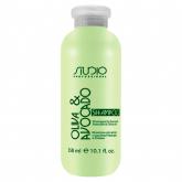 Шампунь с маслами авокадо и оливы Kapous Studio Professional Oliva And Avocado Shampoo Small Size
