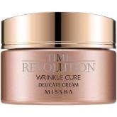Антивозрастной питательный крем Missha Time Revolution Wrinkle Cure Delicate Cream