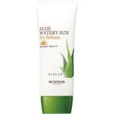 Солнцезащитный крем для жирной кожи с экстрактом алоэ Skinfood Aloe Watery Sun No Sebum SPF50+ PA+++