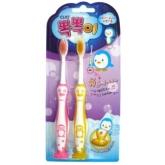 Набор детских зубных щеток с присоской Clio Tangtani 2