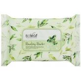 Очищающие салфетки с целебными травами Soleaf Healing Herb Cleansing Tissue