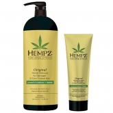 Шампунь растительный для поврежденных волос Hempz Original Herbal Shampoo For Damaged And Color Treated Hair