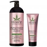 Шампунь растительный для сохранения цвета и блеска окрашенных волос Hempz Blushing Grapefruit And Raspberry Creme Shampoo