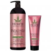 Кондиционер растительный для сохранения цвета окрашенных волос Hempz Blushing Grapefruit Ahd Raspberry Creme Conditioner