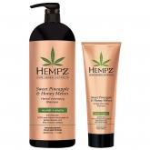 Шампунь растительный для придания объёма Hempz Sweet Pineapple And Honey Melon Volumizing Shampoo