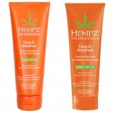 Молочко солнцезащитное для кожи светлого оттенка Hempz Yuzu And Starfruit Touch of Summer Body Milk SPF 30