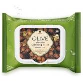 Увлажняющие очищающие салфетки Mizon Olive Moisture Cleansing Tissue