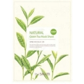 Маска для лица с экстрактом зеленого чая тканевая The Saem Natural Green Tea Mask Sheet