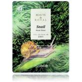 Тканевая маска с муцином улитки The Saem Beaute de Royal Snail Mask Sheet