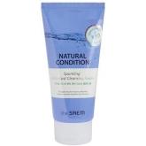 Очищающая пенка с водородом The Saem Natural Condition Sparkling Anti-dust Cleansing