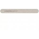 Пилка Зебра для ногтей серая прямая Limoni Grey Nail File