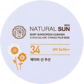 Детский солнцезащитный крем-кушон для лица The Face Shop Natural Sun Eco Baby Sunscreen Cushion